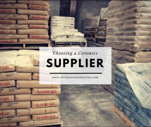 Choosing a Ceramics Supplier - Rocky Mountain Clay