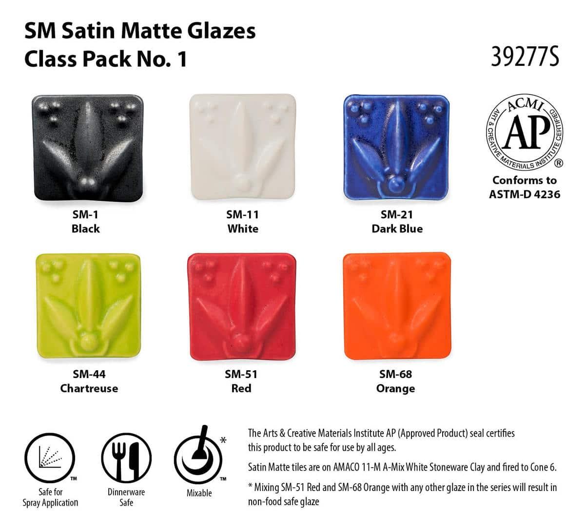 Class Pack (SM) Satin Matte #1 Cone 5/6